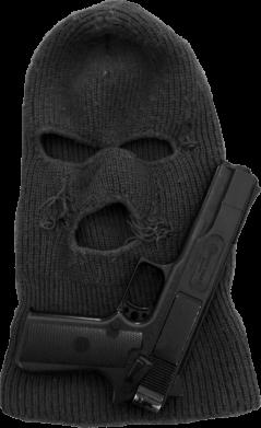 Принт Мужские шорты Балаклава с пистолетом - FatLine