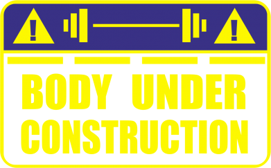 Принт Майка-тельняшка Body under construction - FatLine
