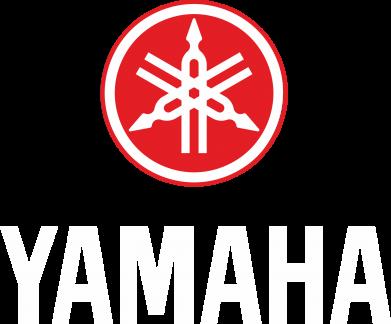 Принт Мужская футболка  с V-образным вырезом Yamaha Logo(R+W) - FatLine