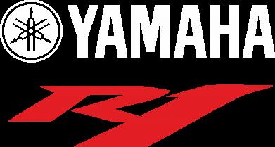 Принт Женская футболка с V-образным вырезом Yamaha R1 - FatLine
