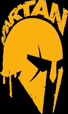 Принт Женская футболка Spartan minimalistic helmet, Фото № 1 - FatLine