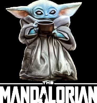 Принт Женская футболка Yoda with a cup, Фото № 1 - FatLine
