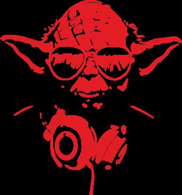 Принт Кружка 320ml Yoda в наушниках - FatLine