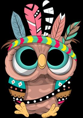 Принт Кружка 320ml Little owl with feathers, Фото № 1 - FatLine