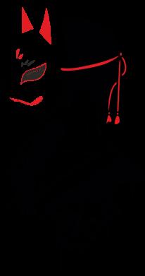 Принт Женская футболка Girl with kitsune mask, Фото № 1 - FatLine
