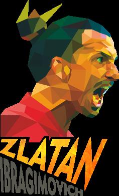 Принт Кружка эмалированная Златан Ибрагимович, полигональный портрет, Фото № 1 - FatLine