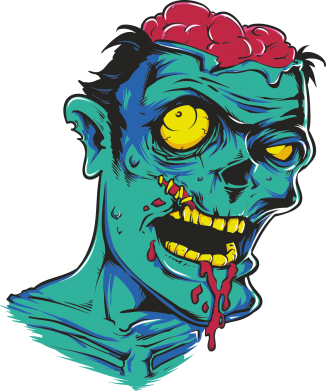 Принт Реглан Zombie Head - FatLine