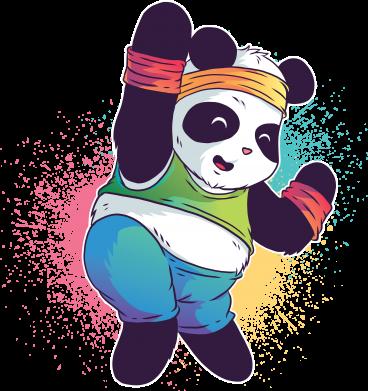 Принт Жіноча футболка Zumba Panda, Фото № 1 - FatLine
