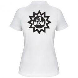 Женская футболка поло # 1 MOM - FatLine