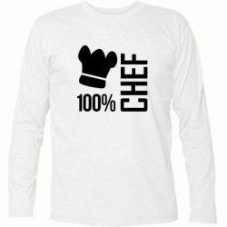 Футболка с длинным рукавом 100% Chef - FatLine