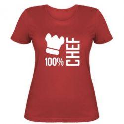 Женская футболка 100% Chef - FatLine