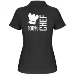 Женская футболка поло 100% Chef - FatLine
