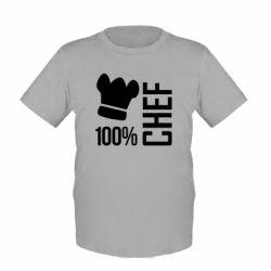 Детская футболка 100% Chef - FatLine