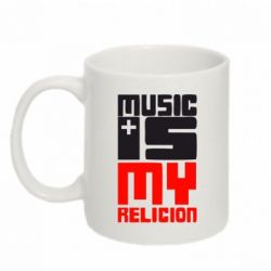 Кружка 320ml Music is my religion - FatLine