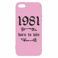 Купить Чехол для iPhone5/5S/SE 1981 Born to win, FatLine