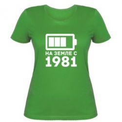 Женская футболка 1981 - FatLine