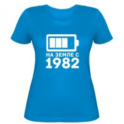 Женская футболка 1982 - FatLine