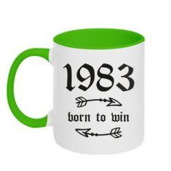 Кружка двоколірна 320ml 1983 Born to win