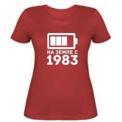 Женская футболка 1983 - FatLine