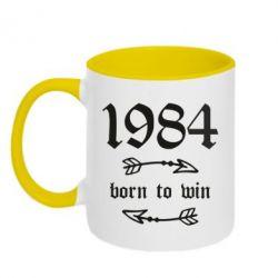 Кружка двоколірна 320ml 1984 Born to win