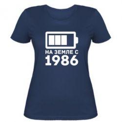 Женская футболка 1986 - FatLine