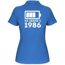 Женская футболка поло 1986 - FatLine
