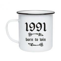 Кружка емальована 1991 Born to win