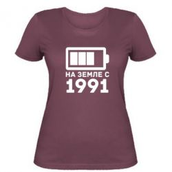 Женская футболка 1991 - FatLine