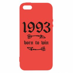Купить Чехол для iPhone5/5S/SE 1993 Born to win, FatLine