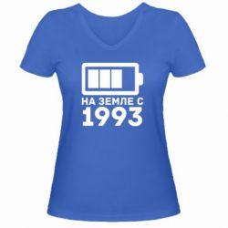 Женская футболка с V-образным вырезом 1993