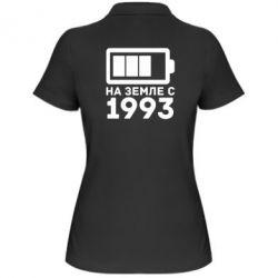 Женская футболка поло 1993 - FatLine