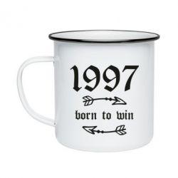 Кружка емальована 1997 Born to win