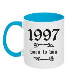Кружка двоколірна 320ml 1997 Born to win