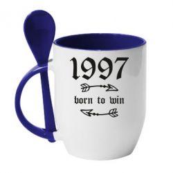 Кружка з керамічною ложкою 1997 Born to win