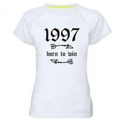 Жіноча спортивна футболка 1997 Born to win