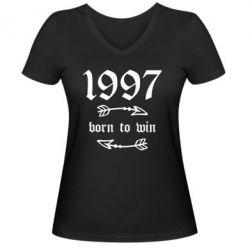 Жіноча футболка з V-подібним вирізом 1997 Born to win