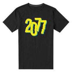 Чоловіча стрейчева футболка 2077 Cyberpunk