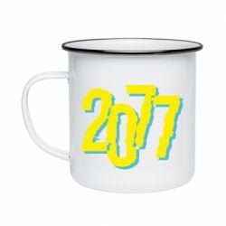 Кружка емальована 2077 Cyberpunk