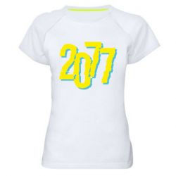 Жіноча спортивна футболка 2077 Cyberpunk