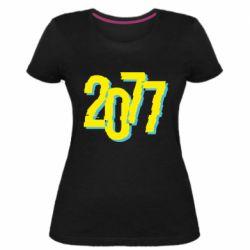Жіноча стрейчева футболка 2077 Cyberpunk