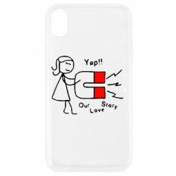 Чехол для iPhone XR 2302Our love story2