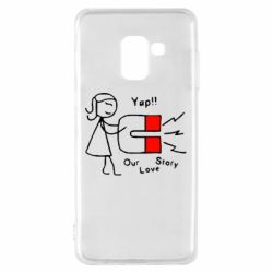 Чехол для Samsung A8 2018 2302Our love story2