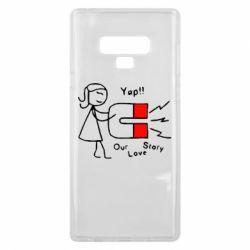 Чехол для Samsung Note 9 2302Our love story2