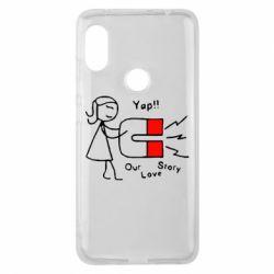 Чехол для Xiaomi Redmi Note 6 Pro 2302Our love story2