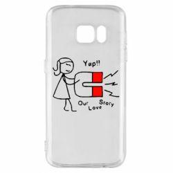 Чехол для Samsung S7 2302Our love story2