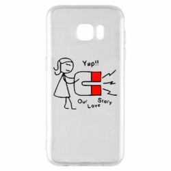 Чехол для Samsung S7 EDGE 2302Our love story2