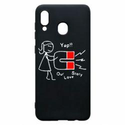 Чехол для Samsung A30 2302Our love story2