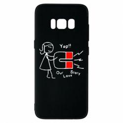 Чехол для Samsung S8 2302Our love story2