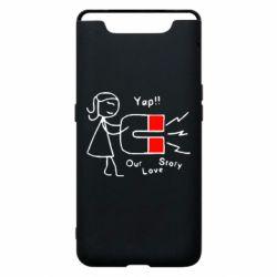 Чехол для Samsung A80 2302Our love story2