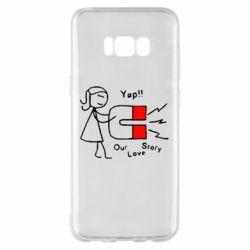 Чехол для Samsung S8+ 2302Our love story2